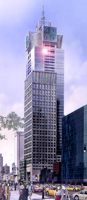 The Condé Nast Building, at 4 Times Square