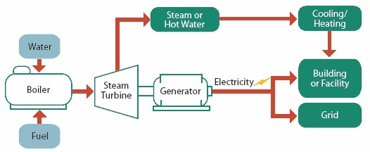 Boiler Based CHP Process Diagram