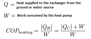Coefficient of Performance (COP) Heating Equation for Heat Pumps