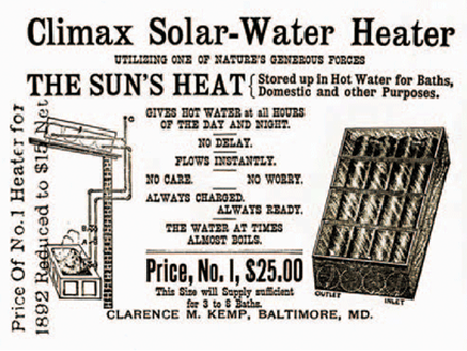 The History Of Solar Hot Water The Renewable Energy Hub