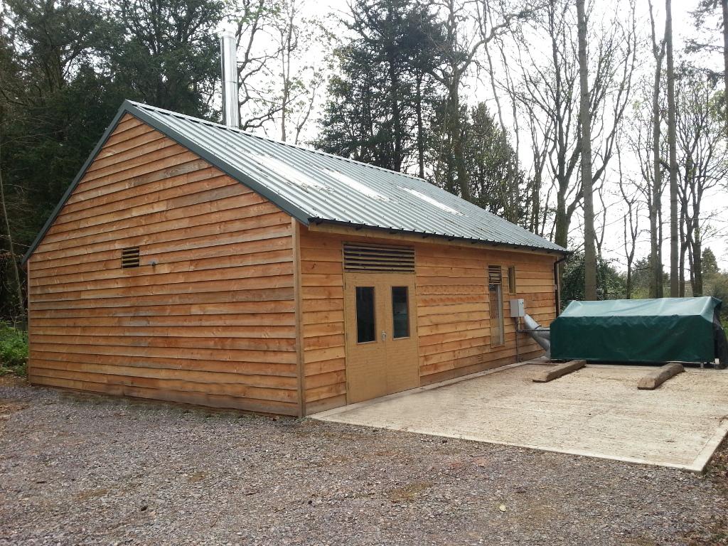 District Biomass Heating Boiler Room