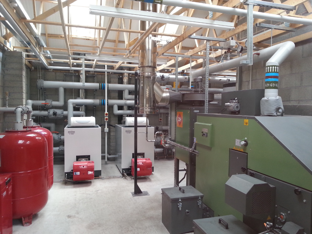District Heating Biomass Boiler Room
