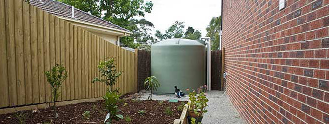 above ground rainwater harvesting tank in-situ