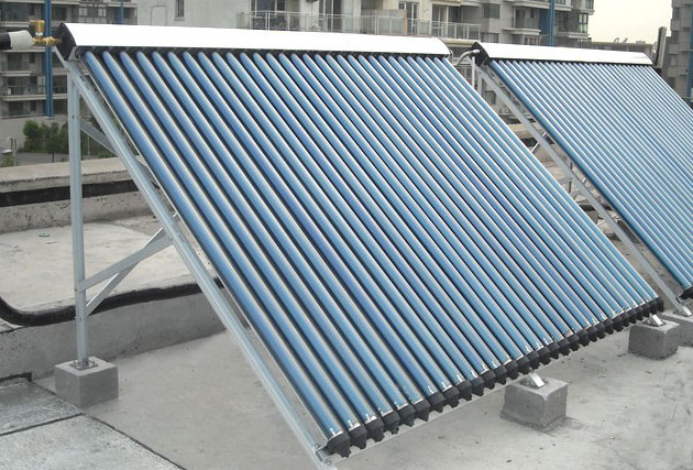 Flat Roof Solar Thermal Mounting