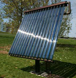 Solar thermal ground mount