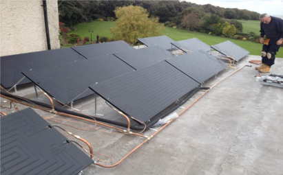 commercial thermodynamic panel on flat roof