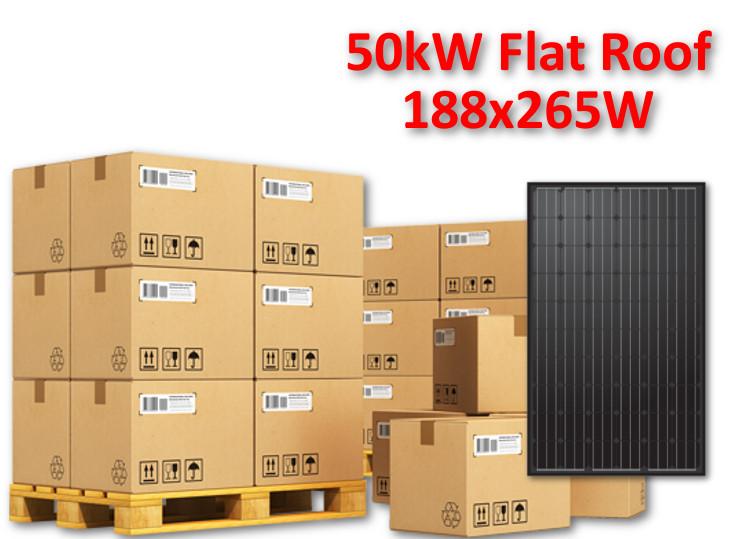 50kw Full Mcs Solar Panel System 188x265w Hareon Poly