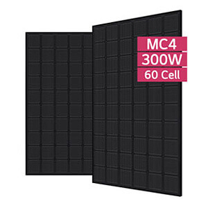 lg mono x neon 2 300w mono pv module all black the. Black Bedroom Furniture Sets. Home Design Ideas