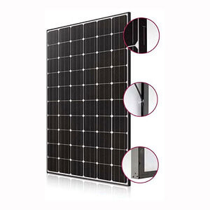 lg mono x neon 285w mono pv module all black 40mm the renewable energy hub. Black Bedroom Furniture Sets. Home Design Ideas
